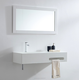 loft desig corian white solid surface bathroom wall hung basin