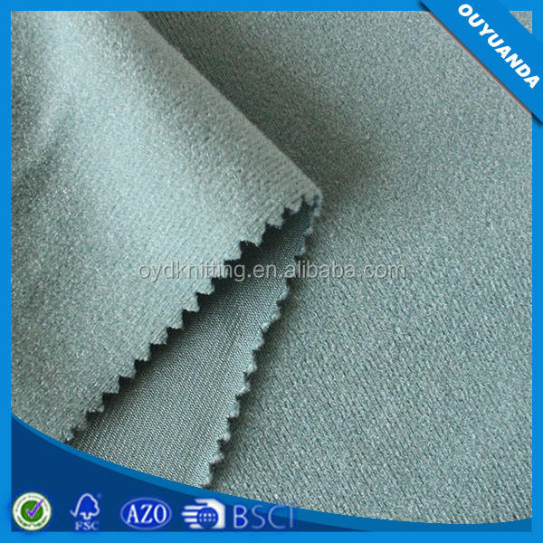 Tricot Loop Brushed Velvet Fabric for Hook