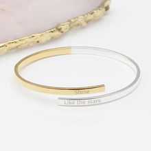 2019 Vintage Cuff Bracelet Color Mixing Bangle Customized Logo or Words Bangle Little girls Gift Bracelet Valentine's Day