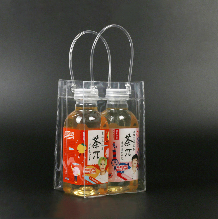 clear vinyl tote bag with handle