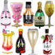 Lagrge wine Whiskey Bottle foil Balloon 30 years old Happy Birthday Party Decor Aged To Perfection holiday Theme supplies