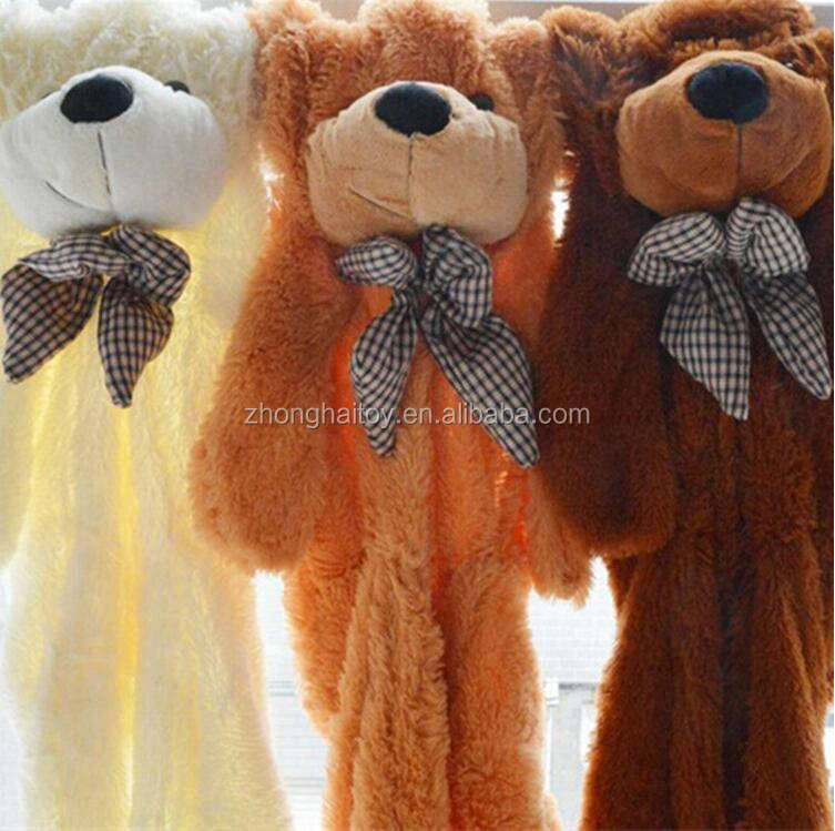 wholesale unstuffed plush animals Plush Giant Teddy Bear Skins Plush Teddy Bear Skin