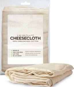 100% Unbleached Cotton Fabric Ultra Fine Cheesecloth for cleaning kitchen use