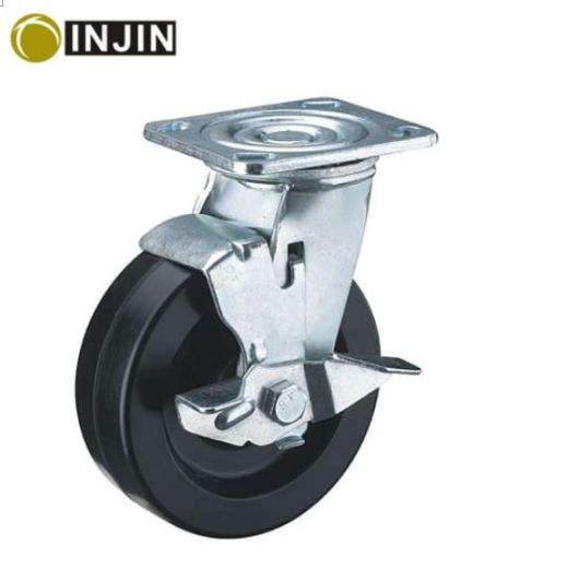 4 inch solid small rubber wheels