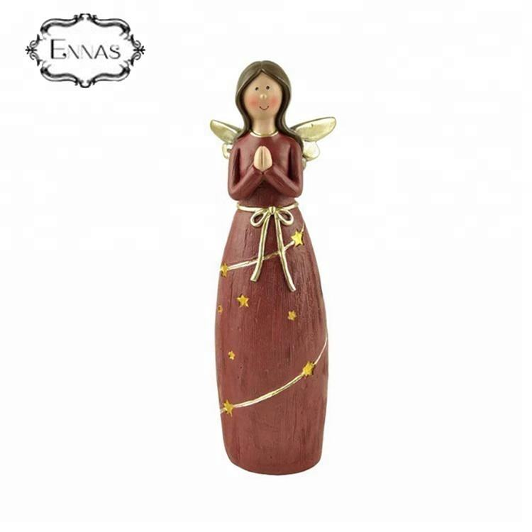 2019 Best selling resin angel statues gifts table decoration made in China