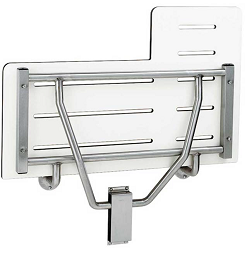 folding shower seat with wall bracket phenolic material
