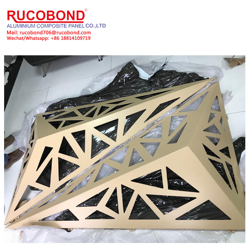 New style Aluminum carved panel for outdoor curtain