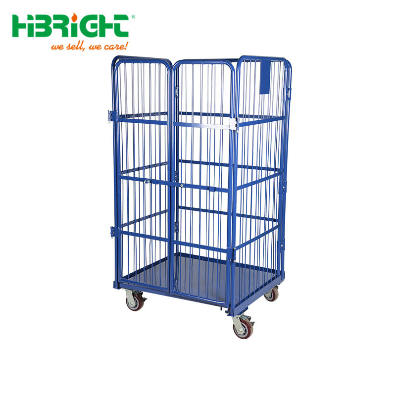 Foldable Steel Laundry Wire Mesh Roll Containers