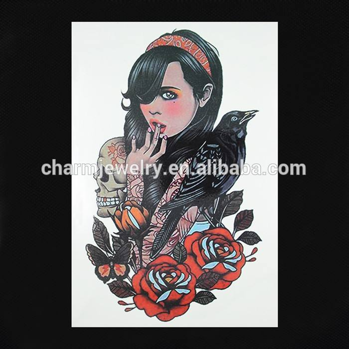 Oem оптовая продажа красота рука татуировки новинка рука тату мода рука татуировки для девочки W-1092