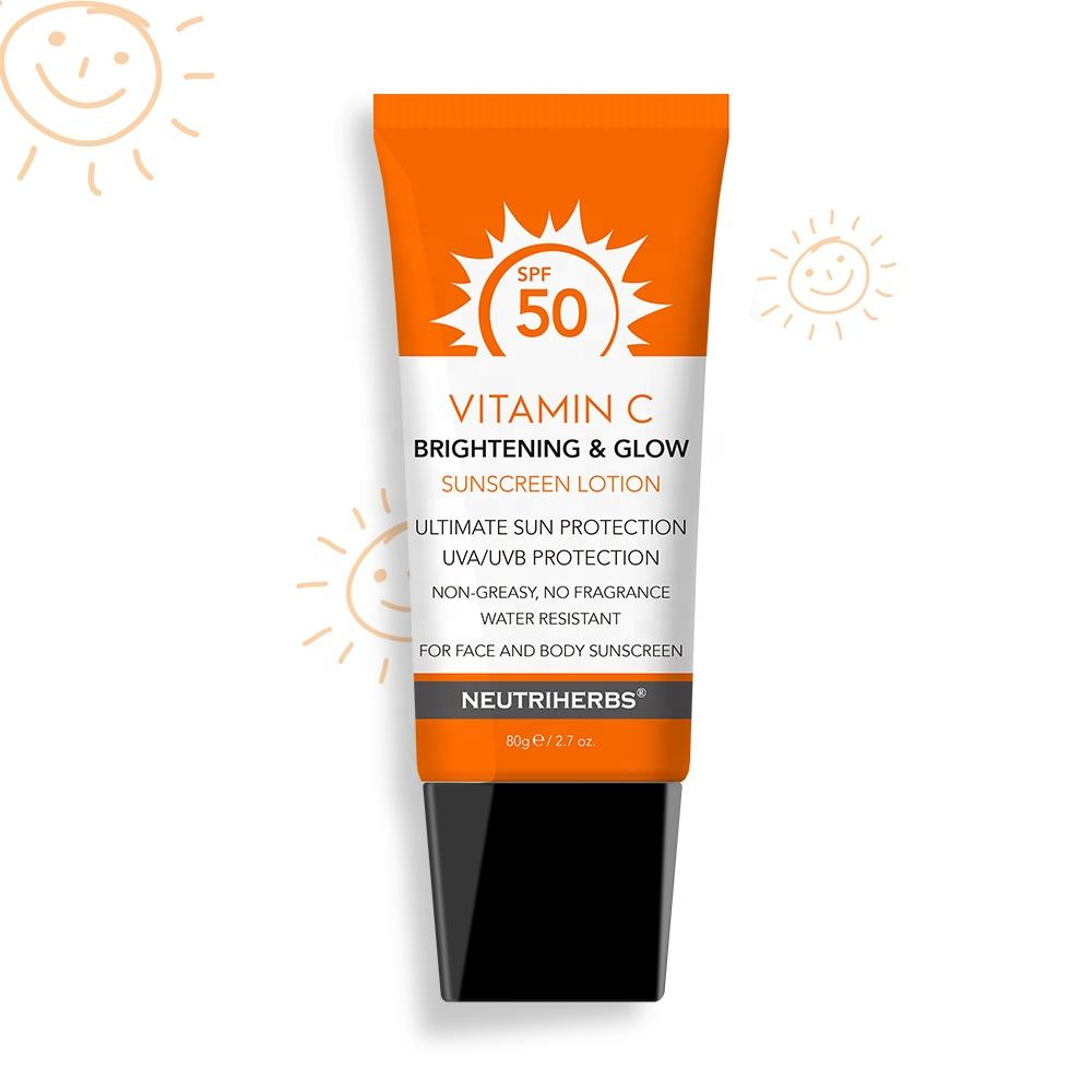 OEM/ODM Prevent Sunburn Mineral Sunblock Sun Cream 50 SPF Sunscreen Lotion