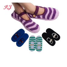RJ-II-1146 slipper sock knitted slipper sock adult floor socks with rubber sole