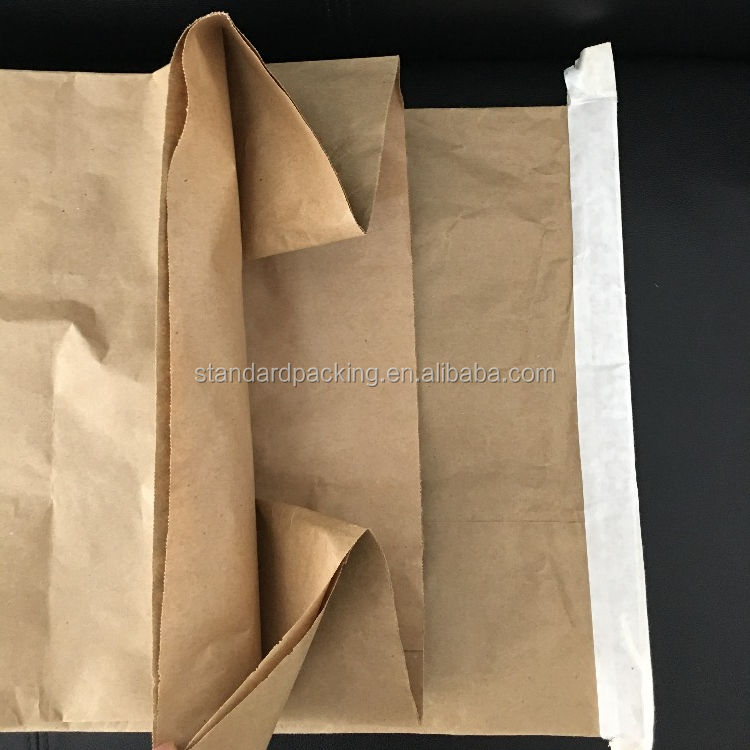 recyclable sac double layer kraft paper bag