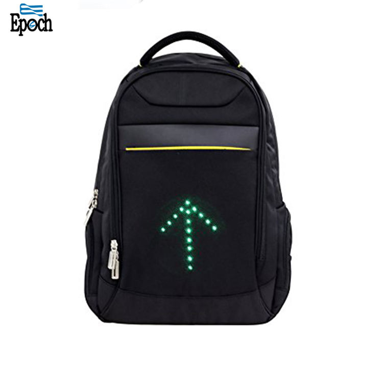 Wholesale Bicycle sport turn signal light reflective backpack smart led school bag for safe night cycling