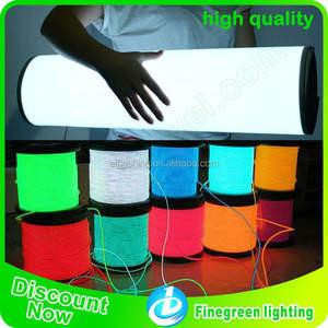 Filo elettroluminescente, 2015 finegreen illuminazione più venduto 2,3 millimetri filo el