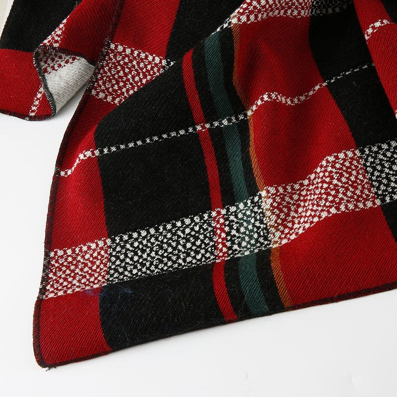 factory price wholesale wool acrylic polyester fabric thick dress fabric plaid pattern for autumn and winter
