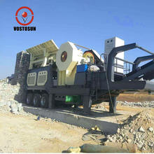 VOSTOSUN Mini mobile stone crusher plant for sale