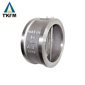 March expo Chinese manufacture directly provide 3 inch wafer type cf8m flap check valve