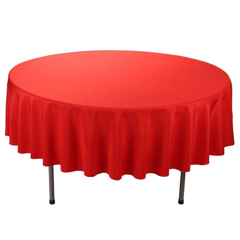 brightly wedding party hotel church red table cloth