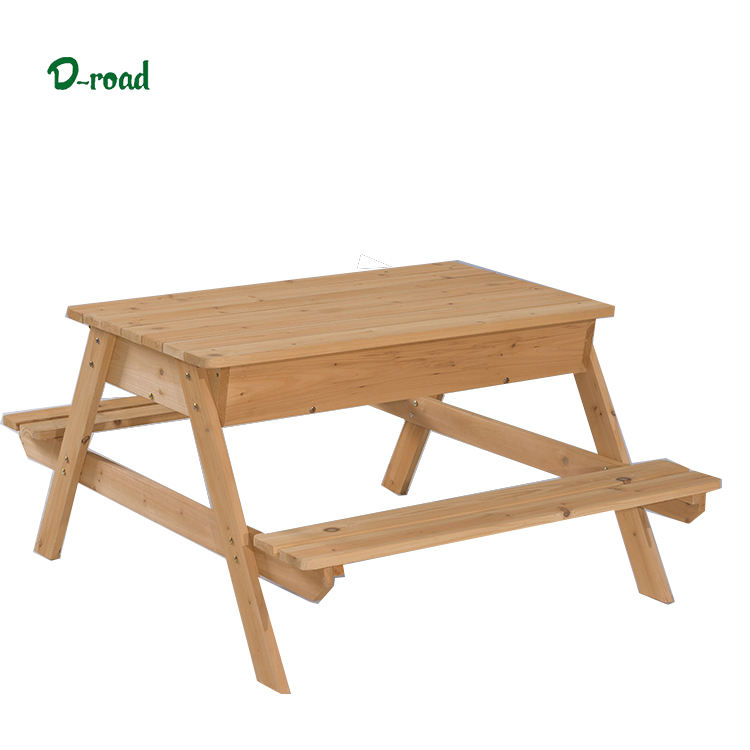 Wood garden picnic table beer garden table and bench