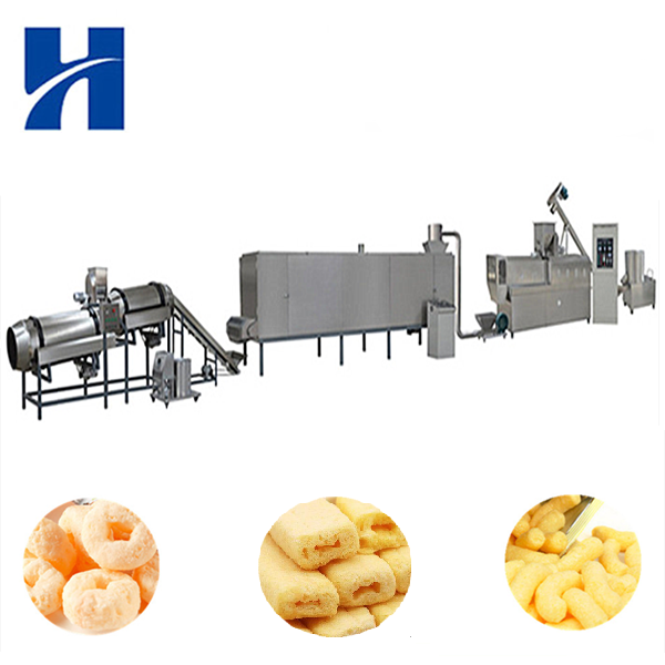 Best puffed food food making machine core filling snack production line slanty extruded snack machine