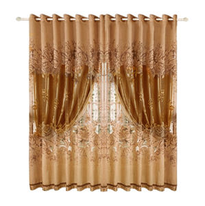 Super September hot sale 2020 new design polyester hotel luxury sheer curtain