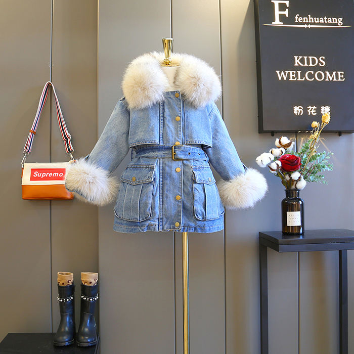 New Premium Wholesale Denim Jackets Suppliers Jean Jacket Girls Babies Winter Coat Import China Products