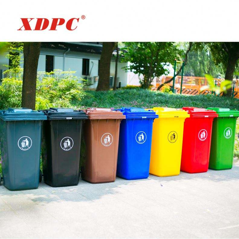 XDPC Wholesale plastic color coded 240l mobile eco-friendly dustbin