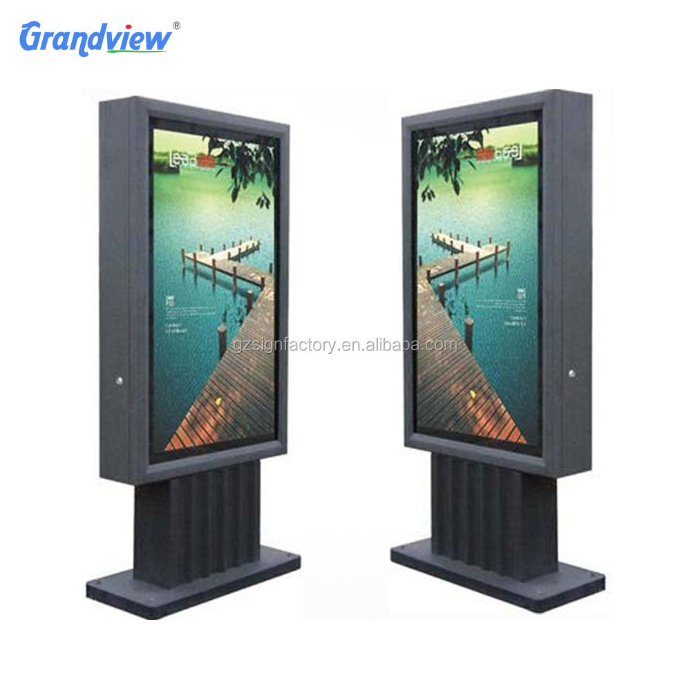 City Street Publicity Solar Energy Outdoor Advertising Led lit Standing Light Box