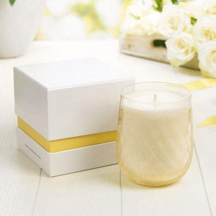 Custom 2 Piece Candle Paper Box With Lid And Base Paper Gift Box For Candle Packaging Box