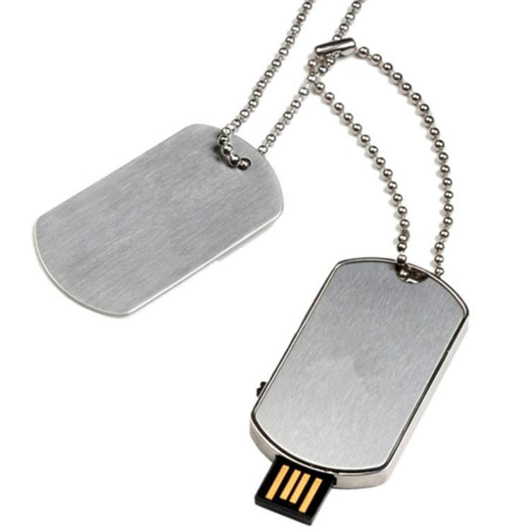 64 GB metal pendrive collar Etiqueta de perro USB flash drive Memory Stick