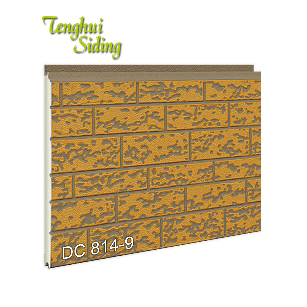 Dalian Tenghui Siding Building Lightweight Pu Sandwich Panel Price List Pattern Panel For Construction