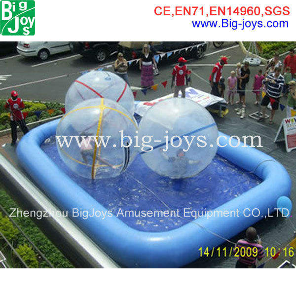 CE/UL blower approved clear water sphere, human water ball inflatable, funny inflatable pool toys