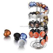 Wholesale 360 degree nespresso k-cup storage drawer metal pod coffee capsule holder,coffee capsule holder nespresso design house