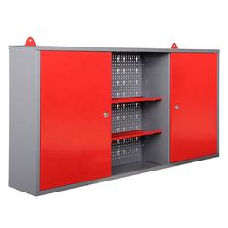 Wholesale cheap Steel Wall Mount Cabinet Organizer 2 Shelves With Lock Garage Home Storage