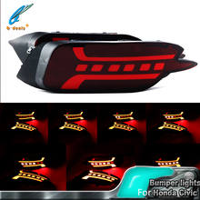 Rear Fog Light G2 led real bumper for Honda Civic 10th  LED Bumper Brake Lights