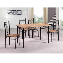 Simple design cheap dining room set metal frame dining set for 5 prices DS-021