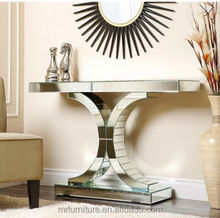 Cheapest Price Living Empire Mirrored Sofa Table Italian Design Hall Way Console Table Furniture