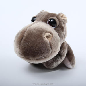 Custom Made Hippo Plush Boneka Brown Hippo