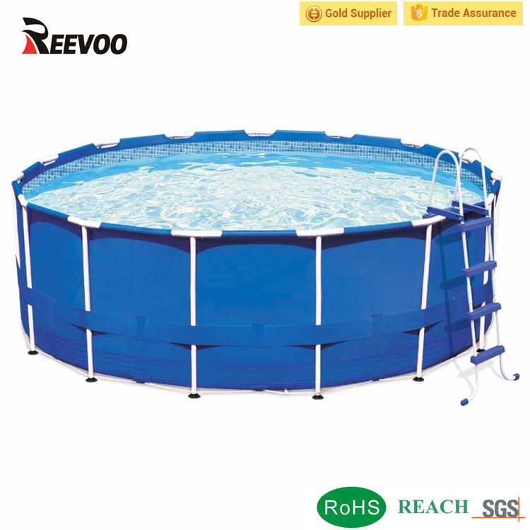PVC canvas frame pool above ground steel swimming pool