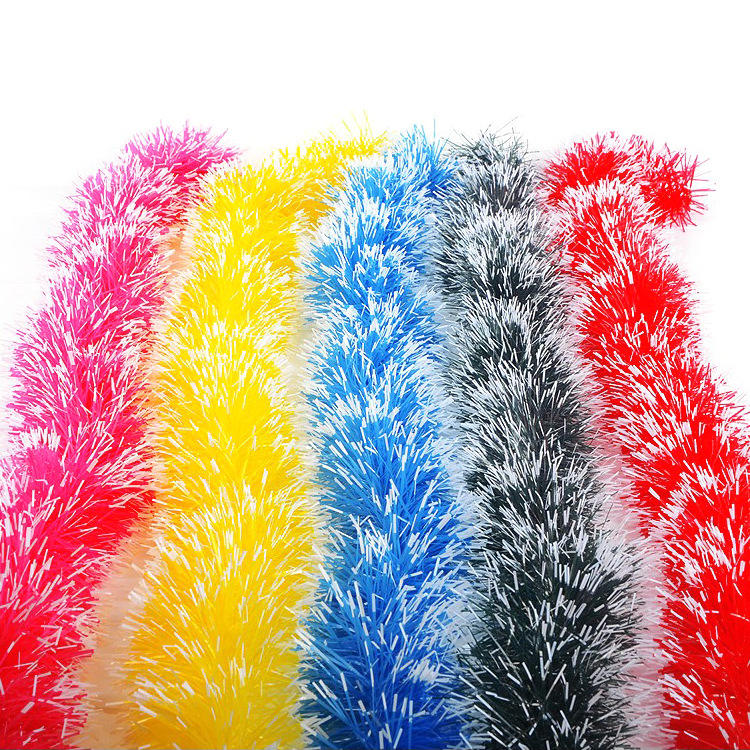 2M Christmas Party Xmas Tree Ornaments Garland Ribbon Tinsel Hanging Decorations Color Bar For Outdoor Shop 5 Color Supply
