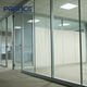 Aluminum frame glass wall designs glass partition with door