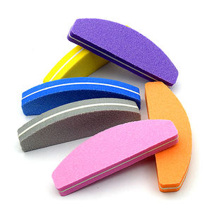 Half Moon Mini Colored Sponge Nail File nail file buffer Manicure Tool for nail salon tools
