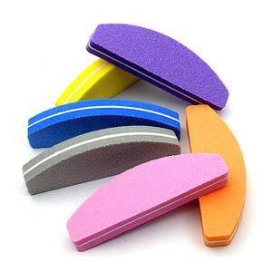 Half Moon Mini Colored Sponge Nail File nail file buffer Manicure Tool for nail salon tools