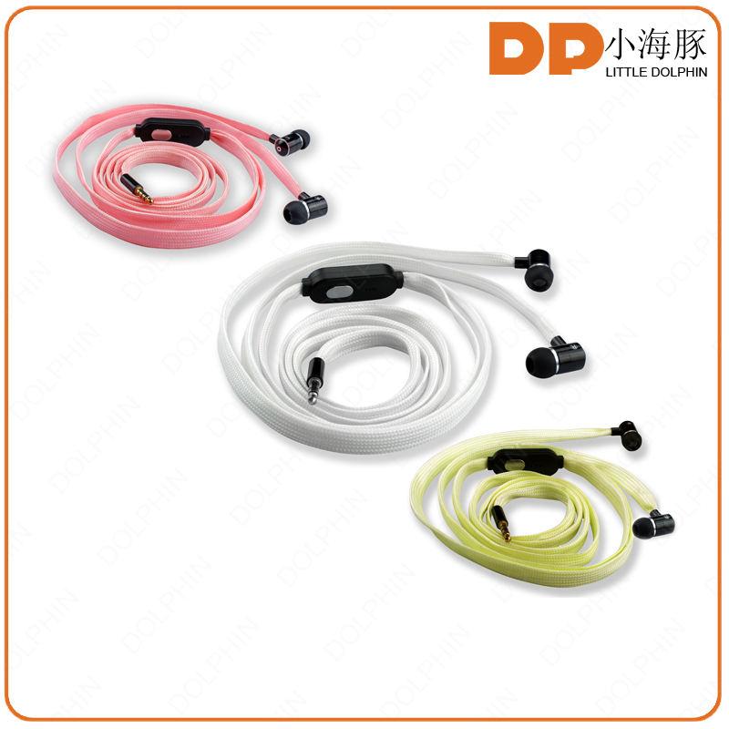 Alibaba оптовая 3.5 мм разъем флуоресценции подсветкой шнурки шнурки для наушников наушники с микрофоном