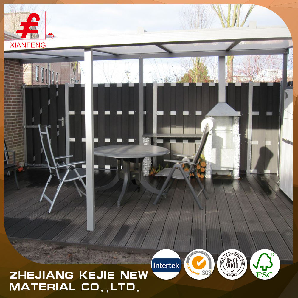 High quality wpc wood composite slat fence for house safety