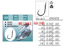 barbless high carbon steel hook to nylon model 090472