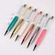 Hot Sales Coarse Fat Empty Tube Ballpoint Pen YiWu Color Rose Gold DIY can filling Glitter Ball Pens With Custom Logo