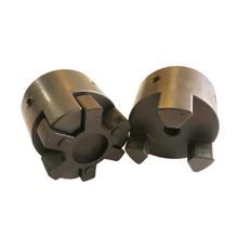 Quick Release Flexible PU Rubber Spider Jaw  Shaft Driving L Coupling L095 With Clamp and Keyway For  Motor coupling