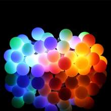 Outdoor  LED Ball  String Lights Battery Powered Starry Fairy String Lights For Wedding Christmas Holiday Lighting