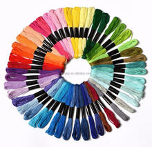 Embroidery Floss Mega Pack ,embroidery thread Approx. 8m per skein Various Colors , 100% mercerized Cotton